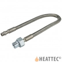 Flexible Gas Hose Stainless Steel 1/4""