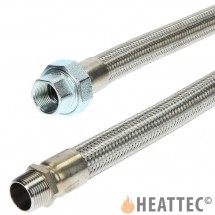 Flexible Gas Hose Stainless Steel 1""